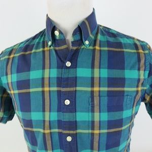 J Crew Small Summer Plaid S/S Shirt Button Down